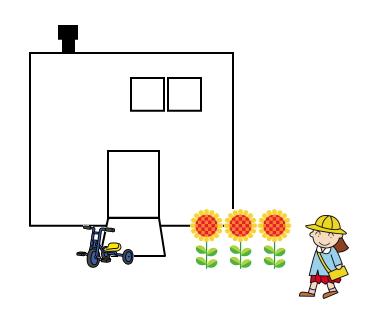 陸屋根の家
