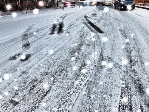 凍てついた坂道