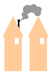 密集している住宅に薪ストーブを設置?